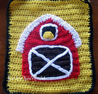Crochet Barn Applique