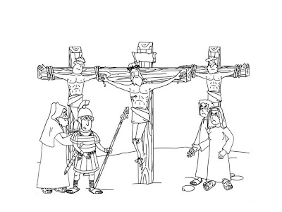 Jesus Crucifixion Good Friday Picture for Kids