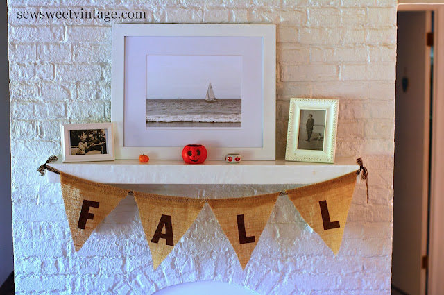 scrappy Fall burlap banner
