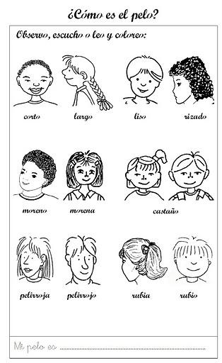 Mi Escuela Divertida: Identificación Personal para colorear