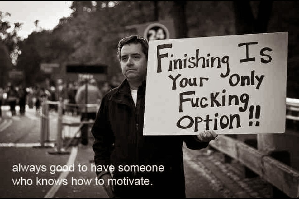 finishing is your only fucking option