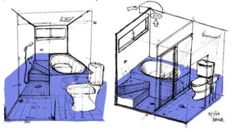 The Baños Y Muebles: Planos Gratis de Cuartos de Baño