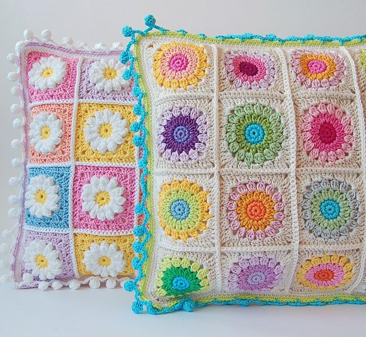 More Crochet Pillows Dadas Place Bloglovin