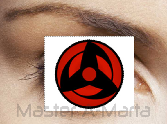 Klik pada background putih pada gambar sharingan