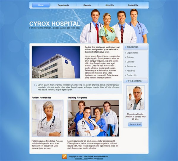 Cyrox Hospital - Free Wordpress Theme