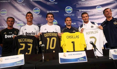 Press conference with Real Madrid and LA Galaxy