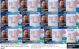 Associação Nacional de Sargentos; ANS; 25 de Abril; Governo; Povo; Portugal; Forças Armadas; Portugueses; RTP; Revolução; Declarações de António Lima Coelho; TSF