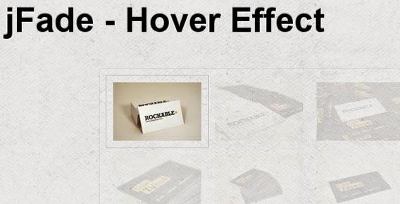 jFade - jQuery Hover Effect