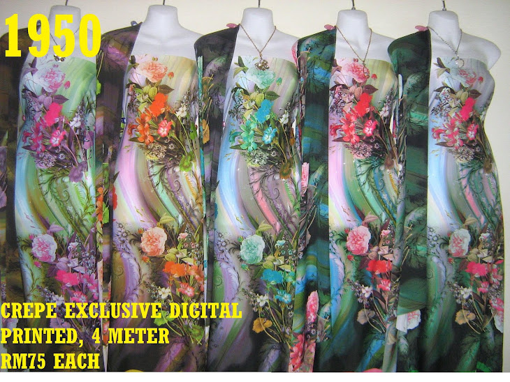 CDP 1950: CREPE EXCLUSIVE DIGITAL PRINTED, 4 METER