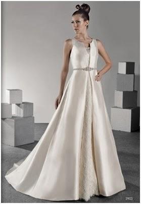 Vestidos de novia de tela de raso