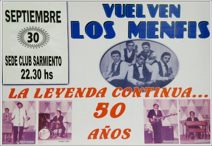 LOS MENFIS CUMPLEN 50 AÑOS CON LA MÚSICA !!!!