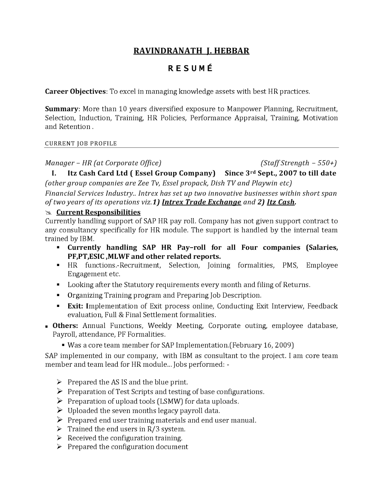 Hr Generalist Sample Resume Gallery Of Graph Paper Template For