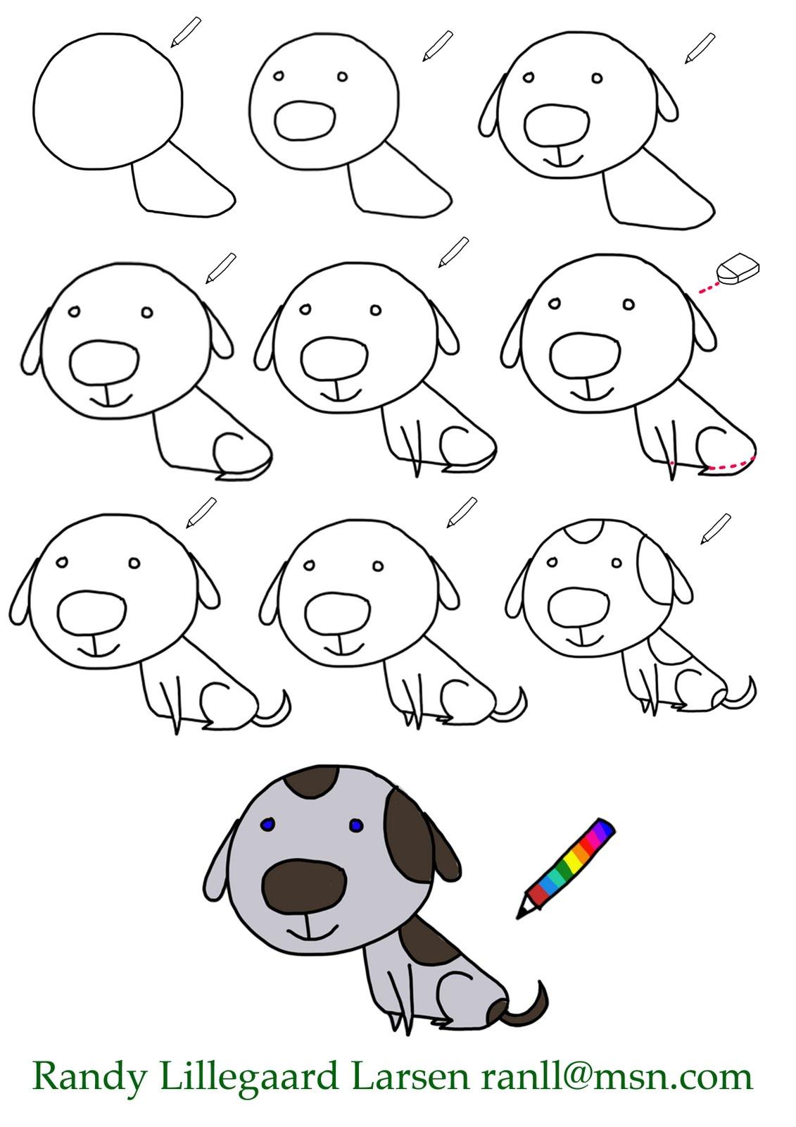 tegnet hund