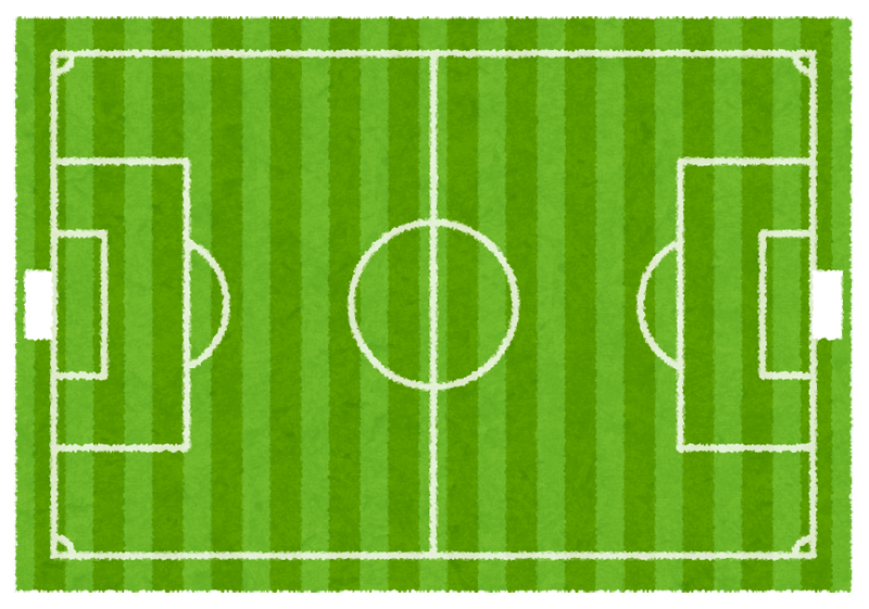 サッカーのフィールドを真上 ... : 写真 テンプレート フレーム : すべての講義