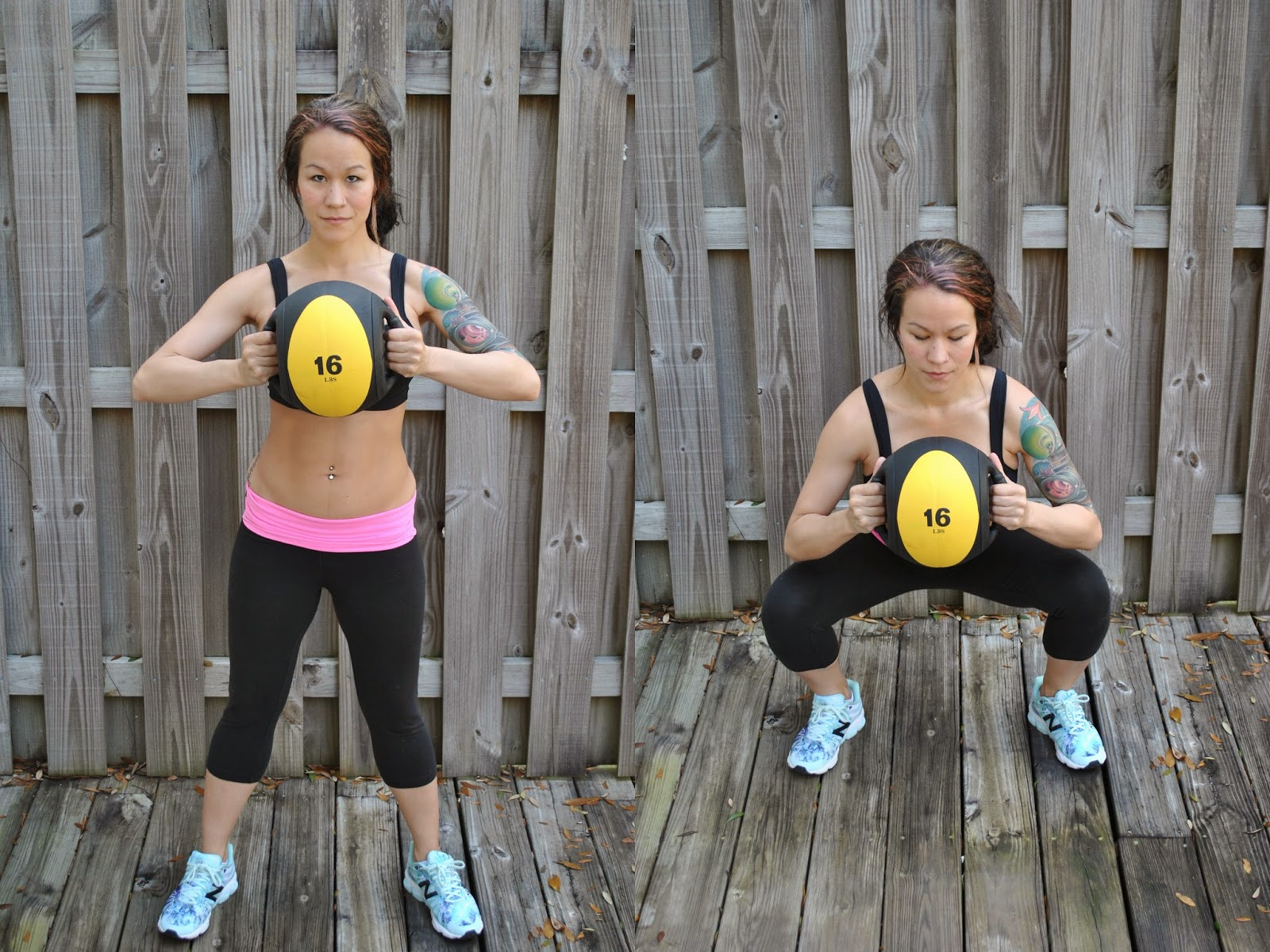 Hanging knee raises with medicine ball - Medicine Ball Squats