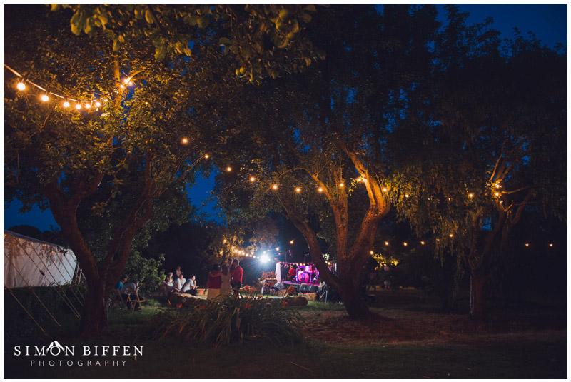 Night at Roughmoor Farm wedding