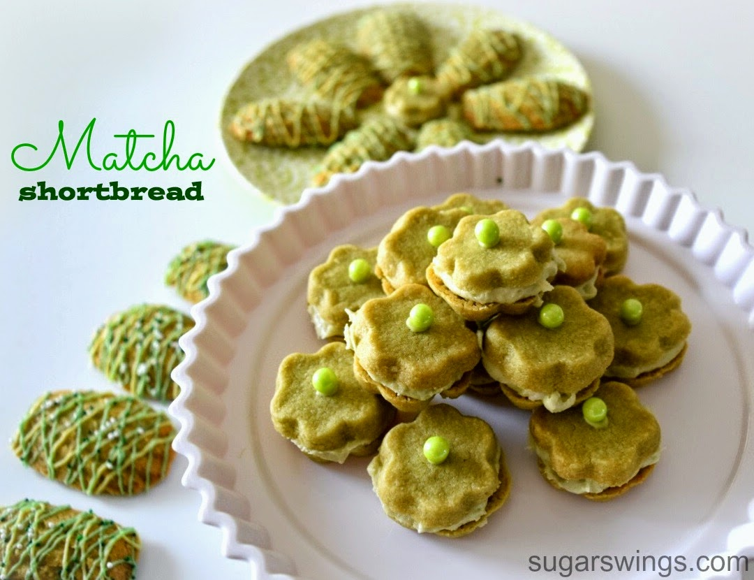 Sugar Swings! Serve Some: Matcha Shortbread Cookies - 2 Ways