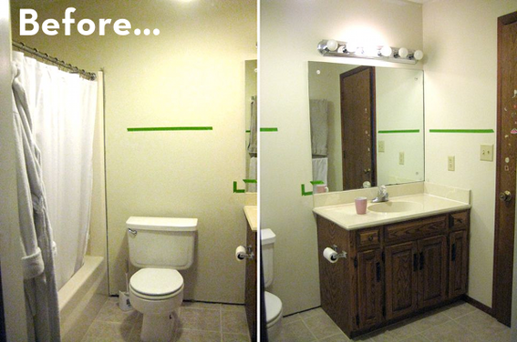Bathroom makeover ideas 2013 home decorating ideas and interior designs Cheap bathroom remodel before and after