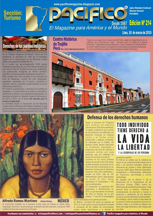 Revista Pacífico Nº 214 Turismo