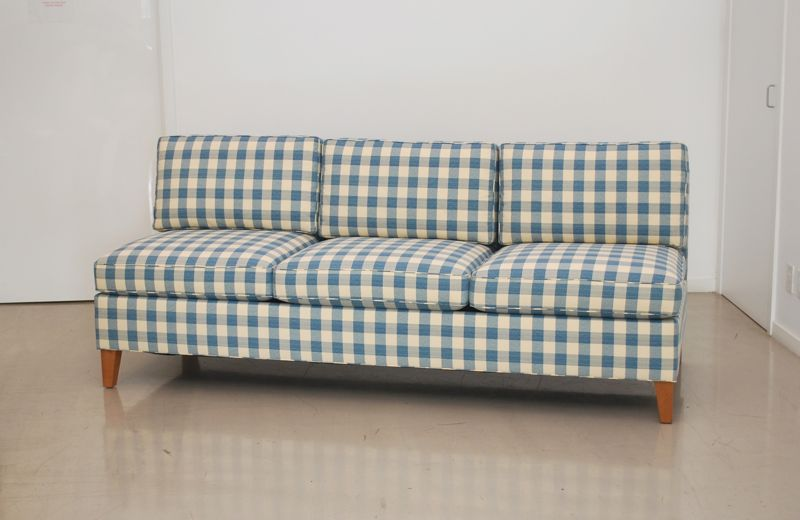 Classic design: custom banquette sofa, settee, chair & ottoman