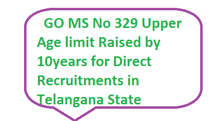 Direct Recruitments in Telangana Upper Age limit raised by 10 years relaxation of upper age in telangana for recruitments