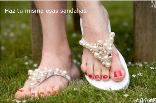 manualidad sandalias