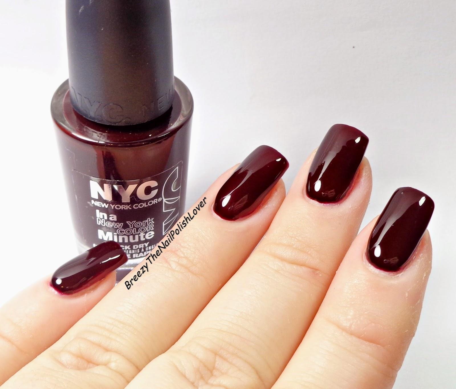 BreezyTheNailPolishLover: NYC Midnight Beauty Nail Polish Review ...