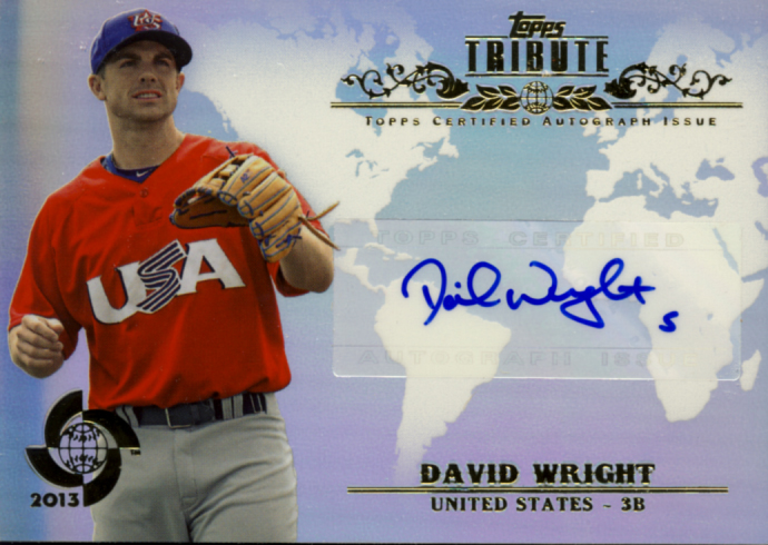 All about cards 2013 topps tribute wbc baseball box break for David wright signature