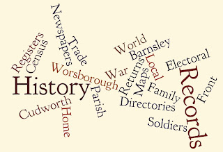 My History Talks Wordle starring such words as Parish and Census and Registers and Maps and so on!