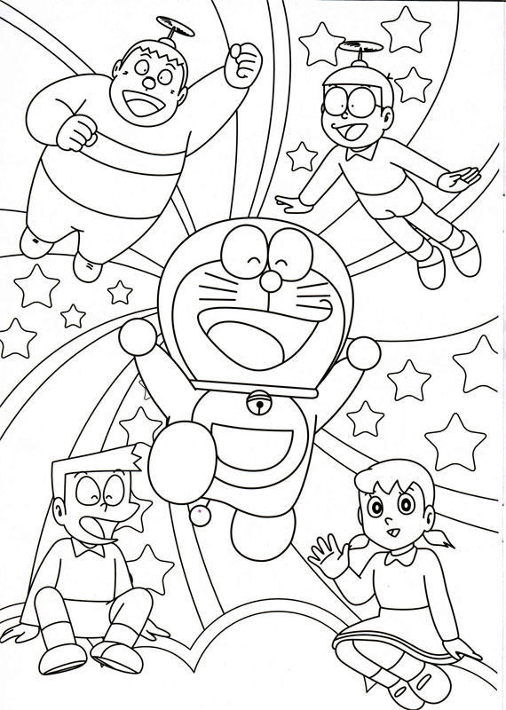 Doraemon Coloring Pages | Minister Coloring