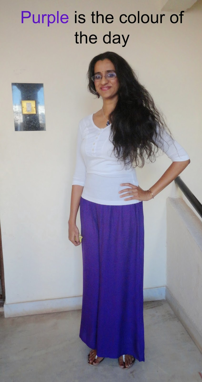 OOTD: Easy Breezy Purple palazzo pants  image