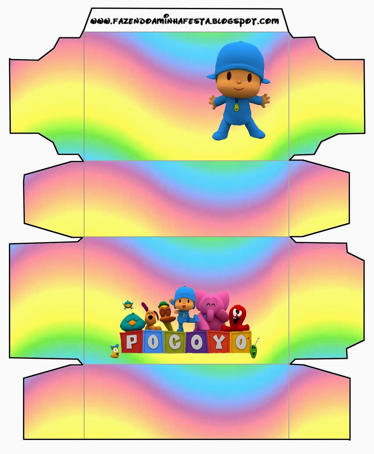 Pocoyo with Rainbow: Free Printable Boxes. | Oh My Baby!