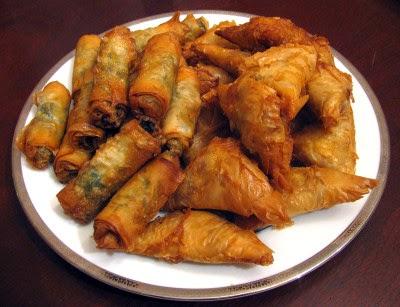 Moroccan chicken briouat
