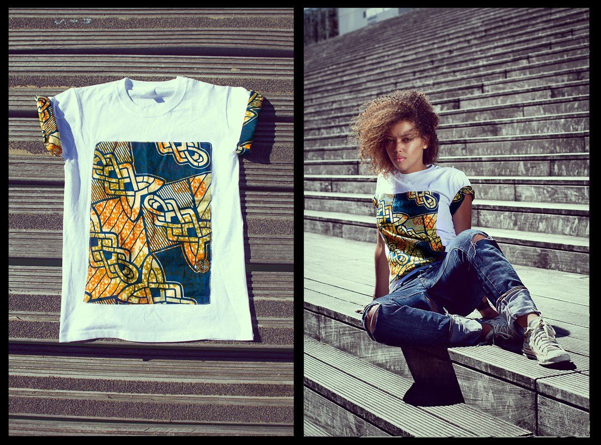African Print T Shirts DAY AFRICAN PRINT T-SHIRT