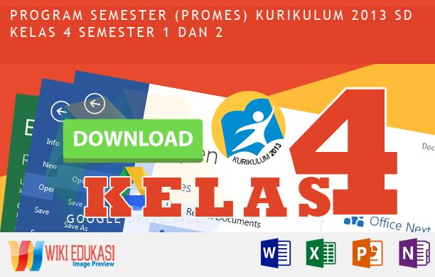 Program Semester (PROMES) KURIKULUM 2013 SD KELAS 4 Revisi RekomendasiTerbaru
