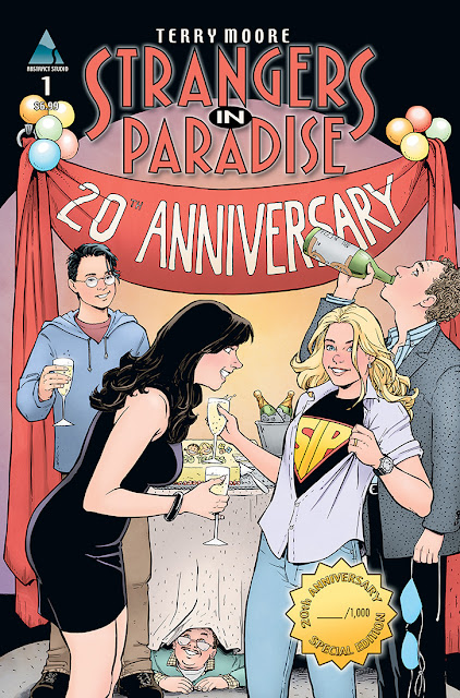San Diego Comic-Con 2013 Exclusive 20th Anniversary Color Strangers in Paradise #1 Cover Artwork by Terry Moore