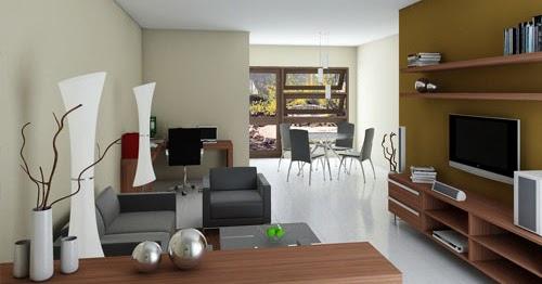 interior rumah sederhana dengan nuansa modern contoh