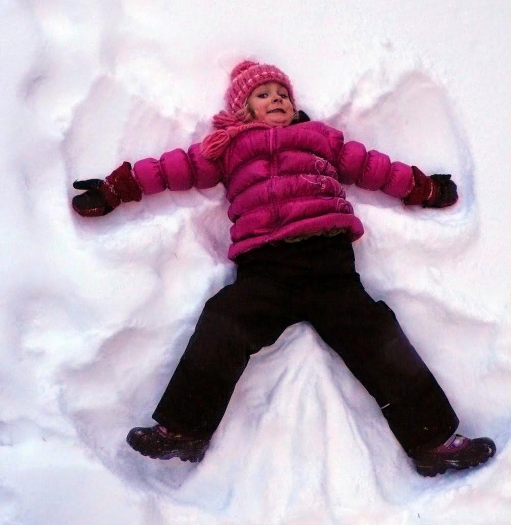 природа-США-техас-зима-снежный-ангел