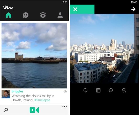 Download Vine Application for Windows Phones