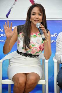 Actress Lakshmi Manchu Pictures in Short Dress at Dongata Movie Logo Launch  15.JPG