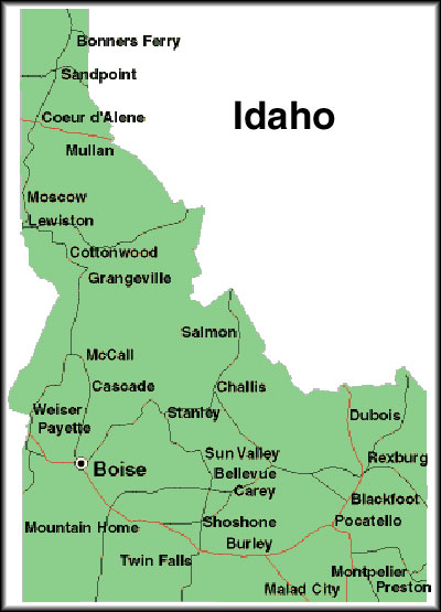 Political Map Idaho Swimnovacom - Idaho political map