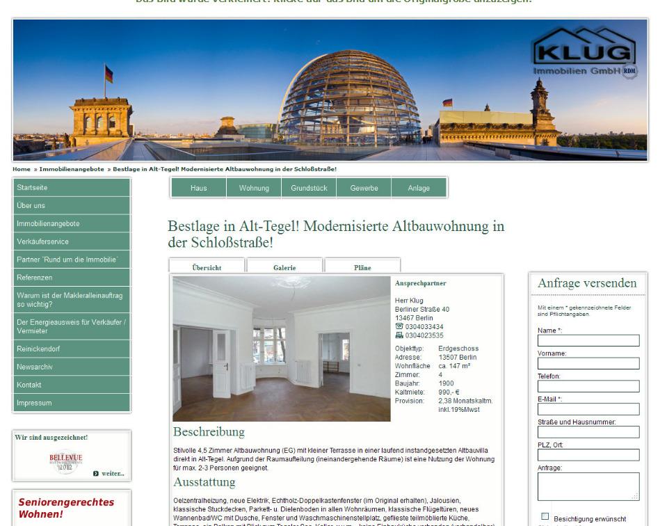 Klug Immobilien Berlin : 30 april 2012 ~ Lizthompson.info Haus und Dekorationen