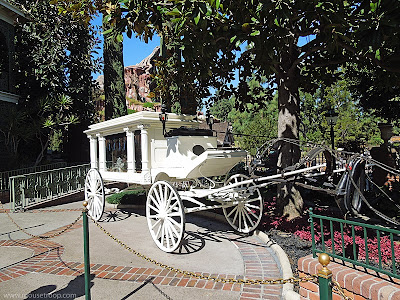 Disneyland hearse horse invisible ghost Haunted Mansion