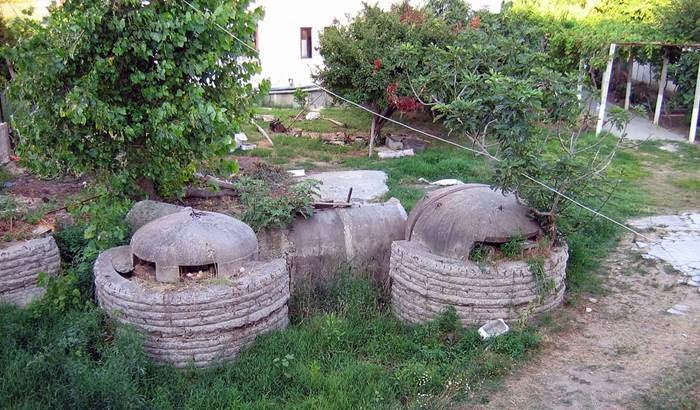 Bunkers in the Park of Albania