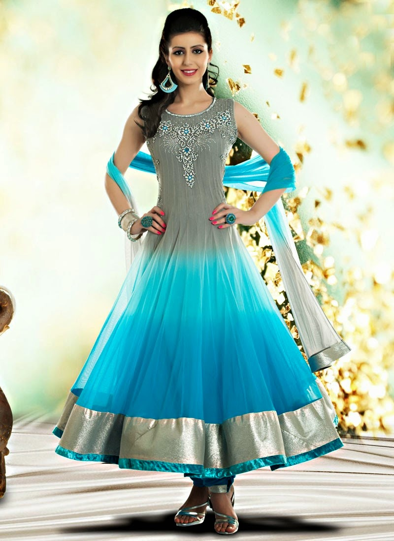 Indian Royal Wedding Wear Long Anarkali Dresses 2014 Collection ...