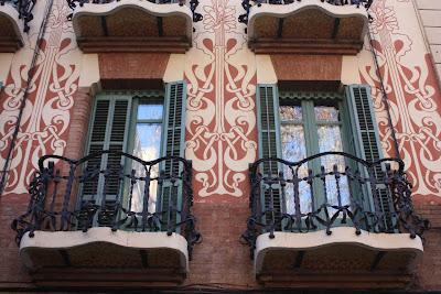 Modernist building beside Plaça de la Virreina in La Vila de Gràcia