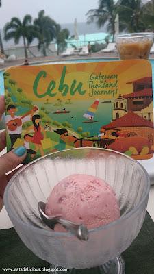 Movenpick Cebu strawberry ice cream
