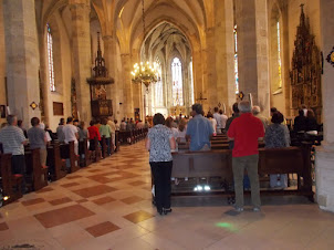 """Friday(4-9-2015) :- Friday noon mass in progress at """"St Martins Cathedral"""" in Bratislava."""