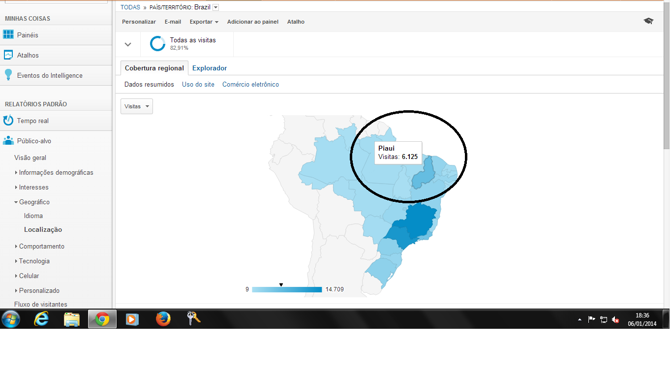 6.mil visitas do Piauí diariamente