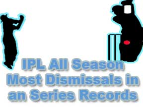IPL All Season Most Dismissals In a Series Records Wickets Keeping Records